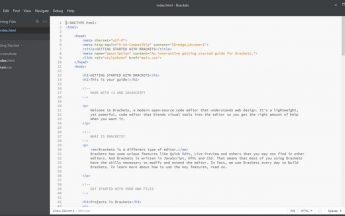 Brackets 1.0, un editor de texto open source para diseño web